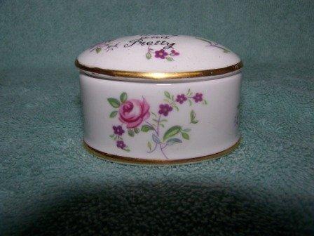 311: Vintage Crown Staffordshire Pill Box