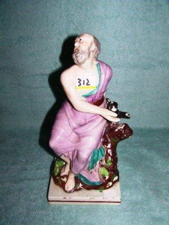 "312: Antique 9 1/2"" Staffordshire Figure"