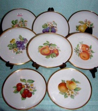 317: 8 Hutschenreuther Selb Bavarian Pasco Fruit Plates