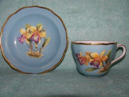322: Rare Orlik Spode J.Price H.Painted Cup & Saucer