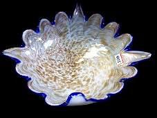 405 13 Vintage Murano Art Glass Bowl