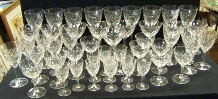 23A: 48pc. Cut Crystal Stemware Set