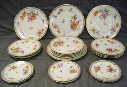 """301: 23Pc Rosenthal Selb Bavarian 9 1/4"""" Plates & Other"""