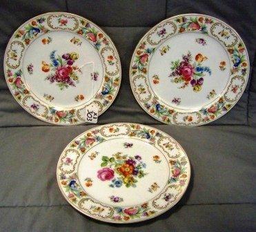 "303: 3 Noritake Dresalda 9"" Dinner Plates"