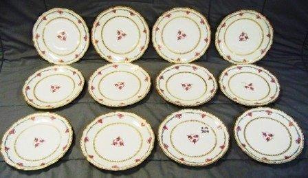 "304: 12 Vintage Blakeman & Henderson 8 1/4"" Plates"