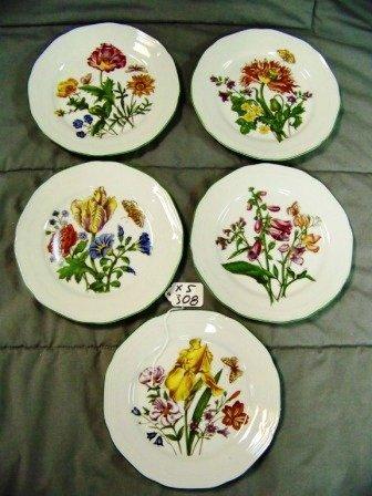 308: 5 Bareuther Waldsassen Bavaria Botanical Plates