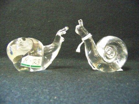 320: Pr Great City Traders Art Glass Snails