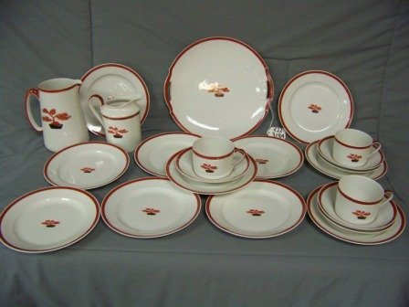 319A: 22 Pc Limoges Chinese Bonzai China Set