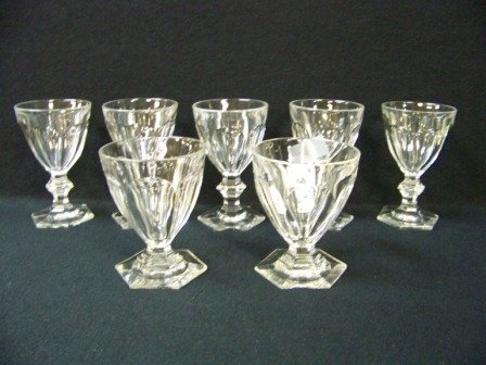 18: 7Pc Baccarat Crystal Glasses