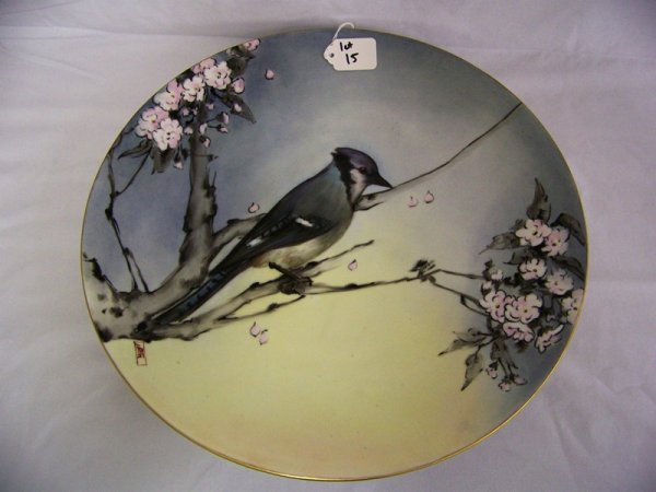 15: H/P Bavaria Blue Jay Charger Chinese Signed