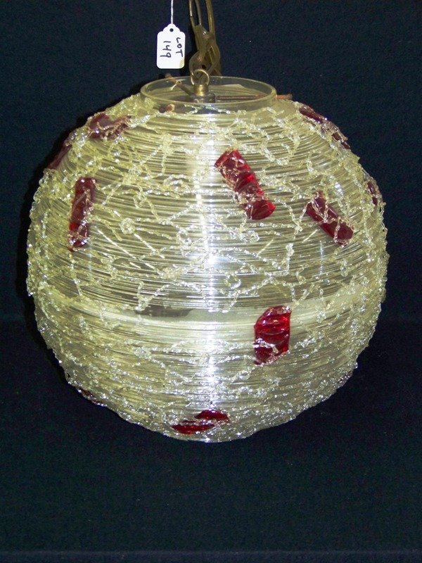 149: Mid C Modern Burman Plastic Spun Hanging Lamp