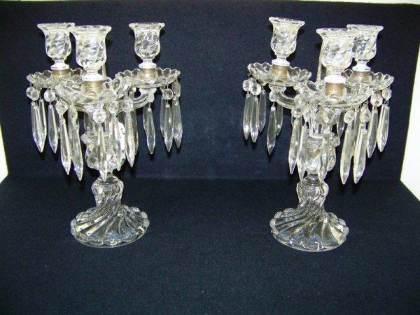 161: Pr Early Baccarat Crystal Candelabras