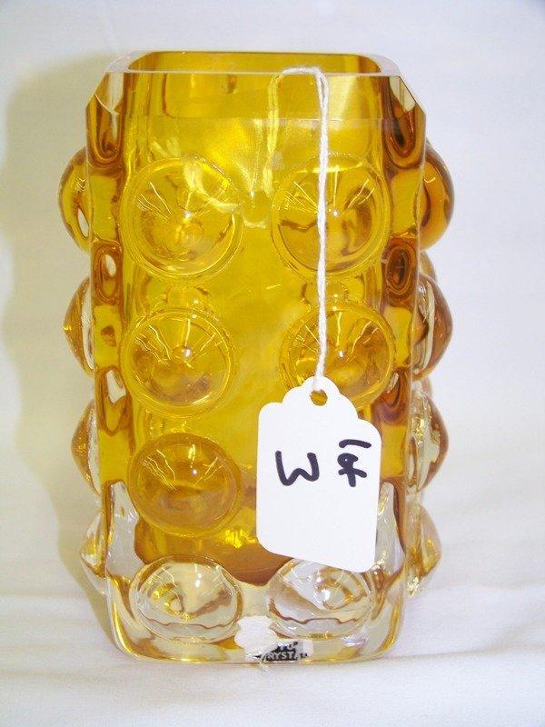 3: Vintage Skruf Sweden Pulled Art Glass Vase