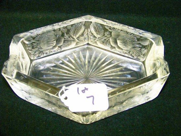 7: Early Unusual Cut Glass Ash Tray