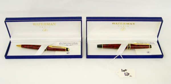 12: Pr Waterman Paris Pens