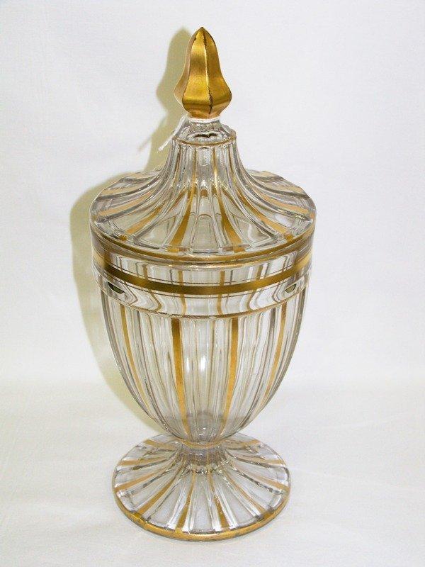 21: Heisey Lidded Vase