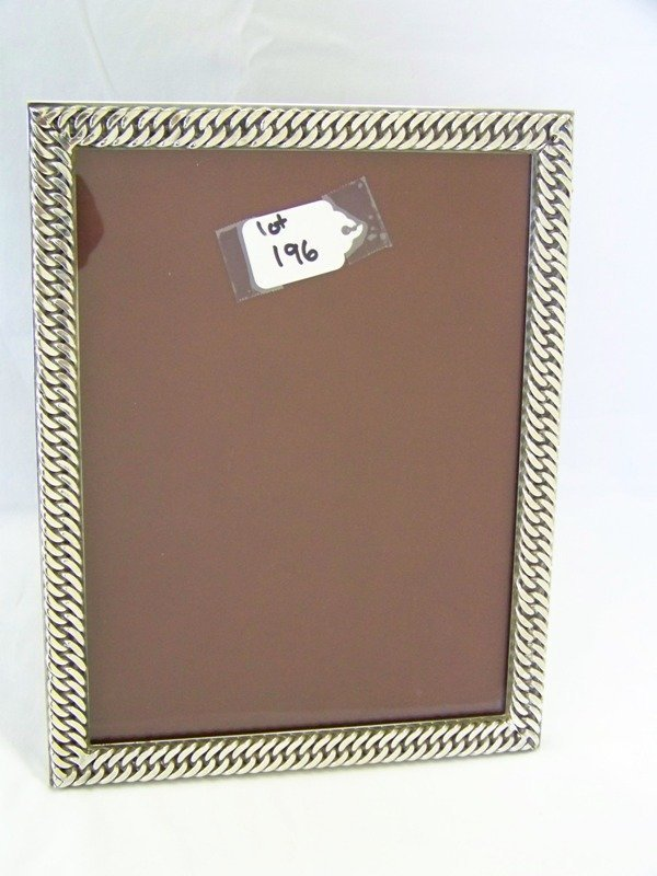 196: Hermes Paris Silver Rope Twist Picture Frame