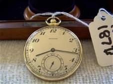 187B: Hamilton 14kt Wadsworth 17 Jewel Pocket Watch