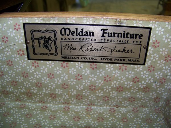 55: Meldan Furniture  Bombay French Style Side Table - 5