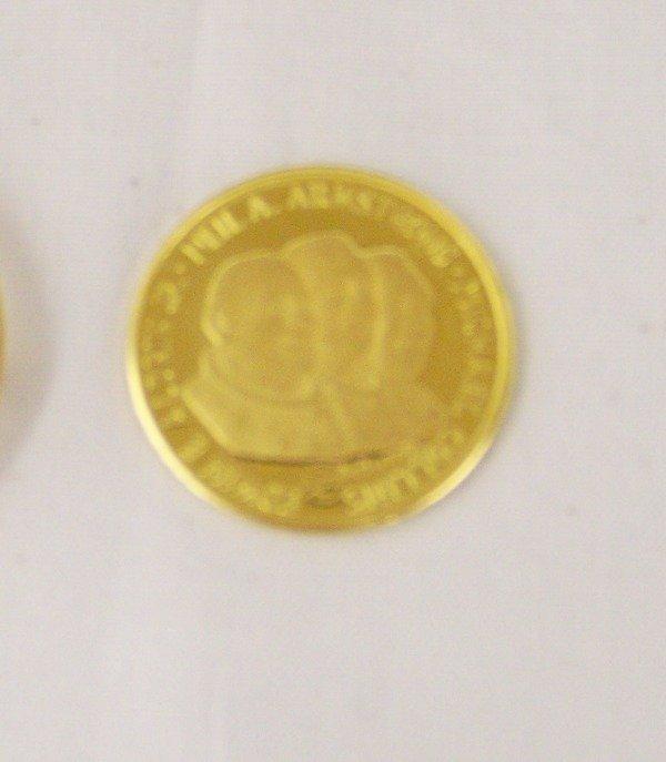 160: Vintage Apollo 11- 917/1000 Gold Coin - 4