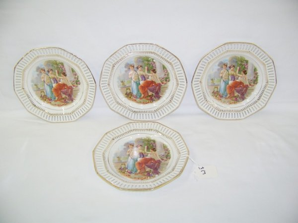 3: 4 Bavaria Hand Colored 3 Madian Plates