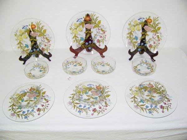 10: 13 Pc Dorothy C. Thorpe Hand Painted China Set