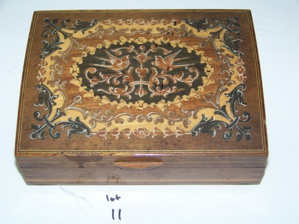 11: Reuge Inlaid Swiss Musical Jewelry Box