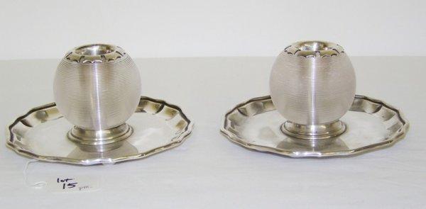 15: Pr Modern Goldsmith & Silversmiths Candle Holders