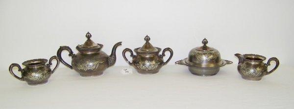 17: 5 Pc Vanberch S/P Tea Set
