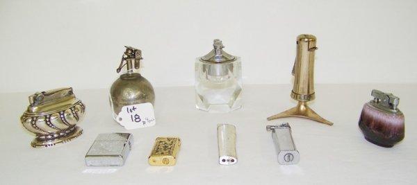 18: Group Of 9 Vintage Lighters