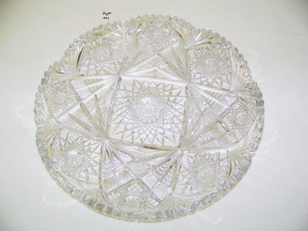 """24: Vintage Cut Glass 11 7/8"""" Pinwheel Pattern Tray"""