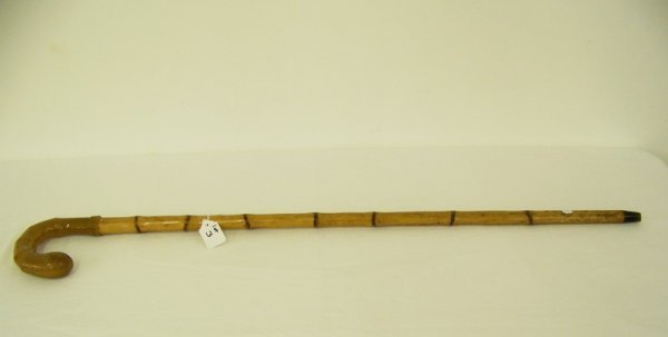 3: Early Butterscotch Bakelite Handled Walking Stick/Ca