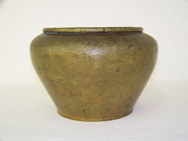 8: Early Signed Russian Hammered Copper Pot