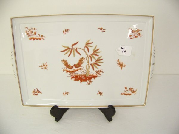 14: Large Richard Ginori Imari Dresser Tray W / Rooster