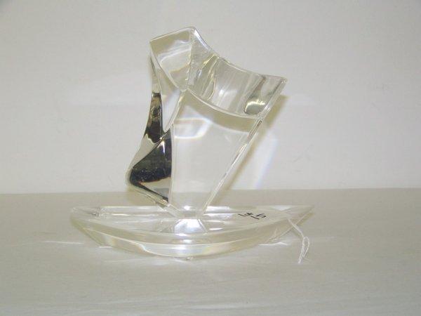 15: Modern Signed Van Teal Lucite Sailboat