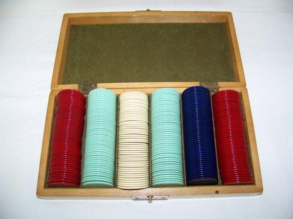 4: Early Bakelite Poker Chip Set