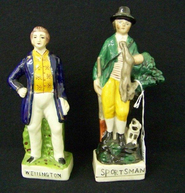 11: Pair Staffordshire Figures Wellington & Sportsman