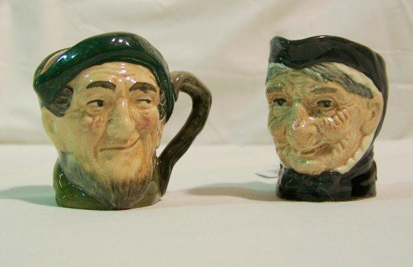 """20: Pair Royal Doulton Tobys """" Granny & Auld Mac """""""