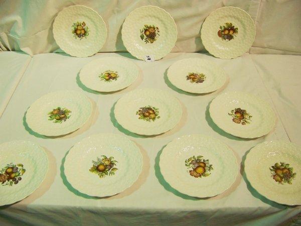 "22: 12 Copeland Spode Signed "" Price"" Fruit Plates"
