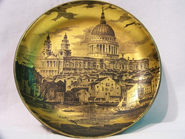 10: Antique English Portmeirion Pottery Plate of Rome