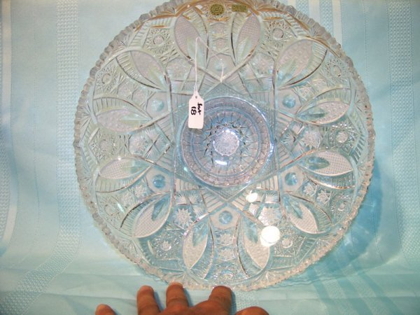 "18: Great Czechoslovakia 13"" Cut Crystal Bowl"