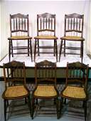188: 19th C. G.H. & Son Baltimore Grain Painted Chairs
