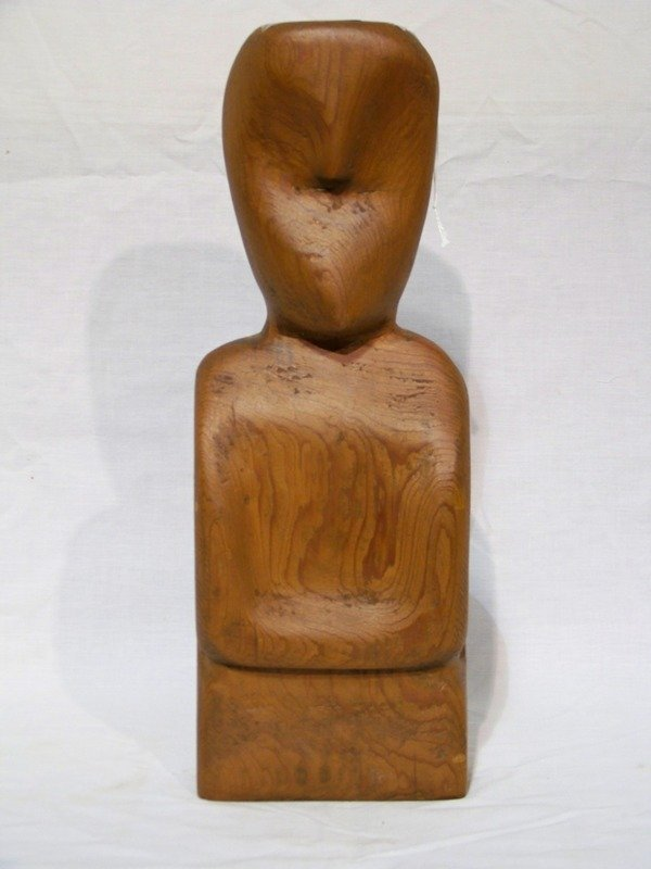 7: Mid Century Modern Wooden Carved Figure