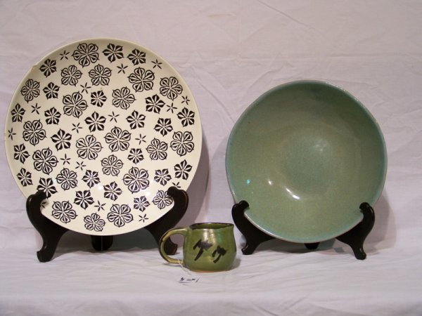 16: 3 Pcs of Signed Modern Pottery