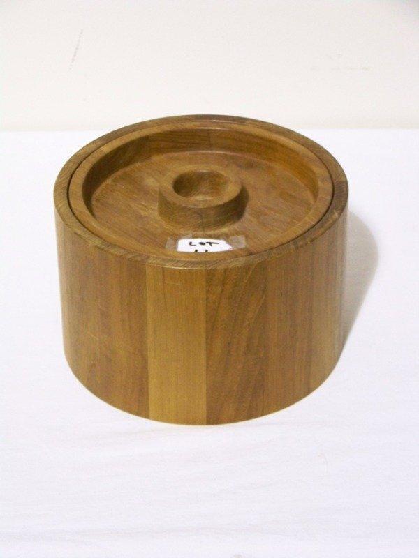 11: Vintage Modern Dansk Teak Ice Bucket & Lid