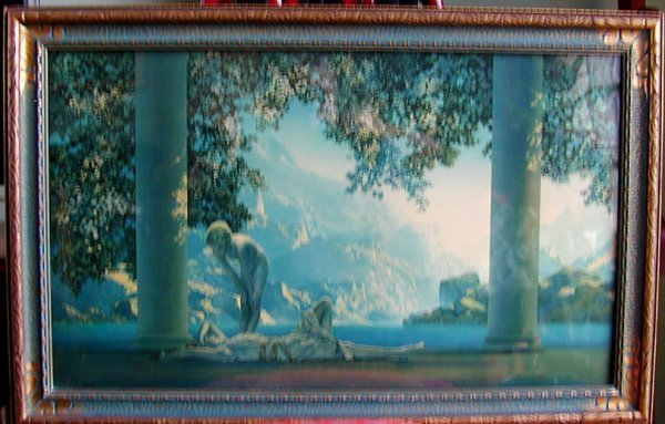 "63A: Maxfield Parrish original print ""Daybreak"""