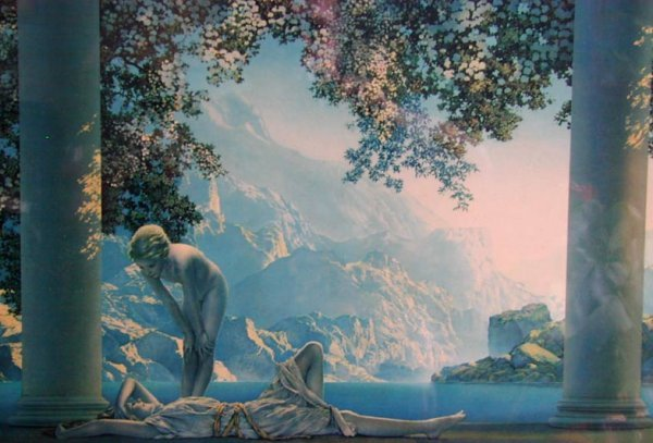 "63A: Maxfield Parrish original print ""Daybreak"" - 3"