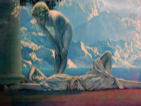 "63A: Maxfield Parrish original print ""Daybreak"" - 4"
