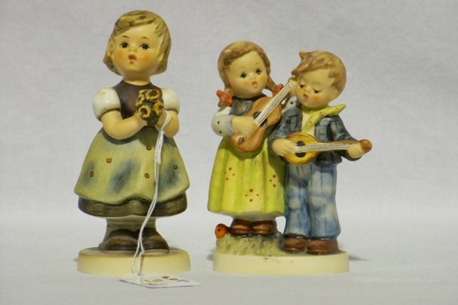 3: Pr. Early Hummel Figures Happy Days & For Mother