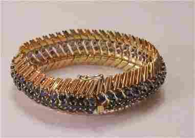 120A: Vintage 18kt Tiffany & Co. Sapphire Bracelet